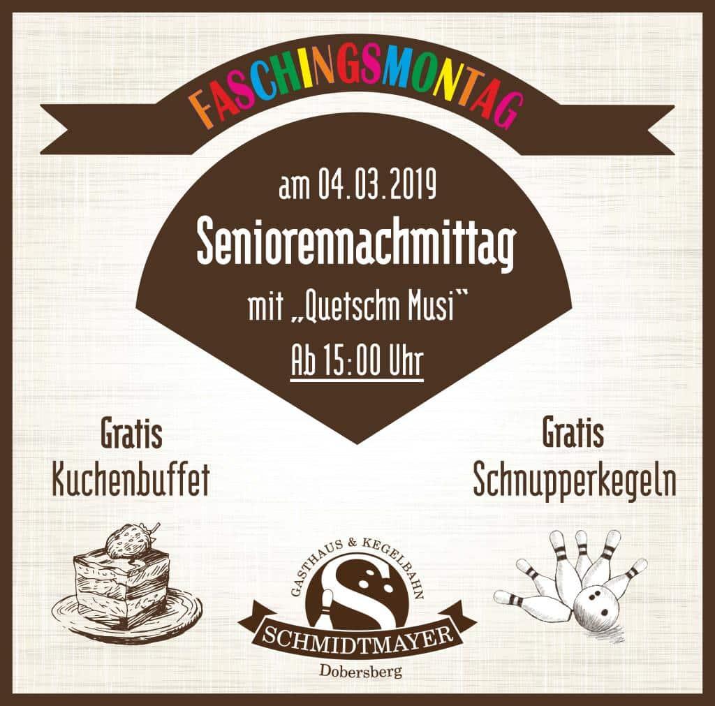 Seniorennachmittagg - Seniorennachmittag am Faschingsmontag!